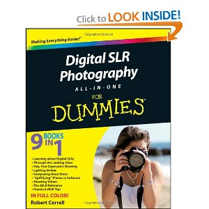 Digital SLR Photography All-in-One For Dummies front cover
