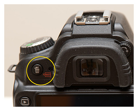 Don't Delete Your Digital Photography Mistakes Too Fast! - Erase Button