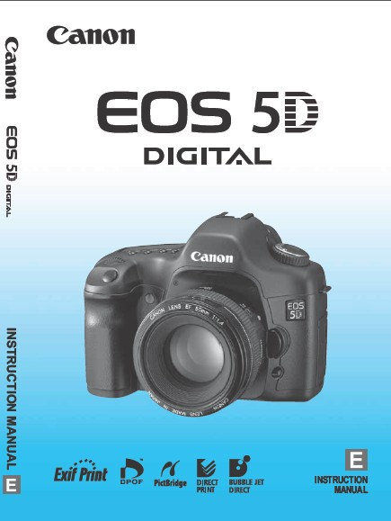 Download Free Canon EOS 5D User's Manual - Front Cover