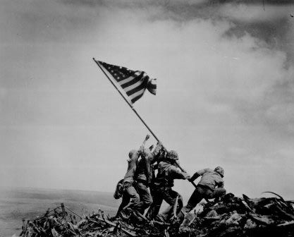 Iconic Photograph - Rising Flag on Iwo Jima