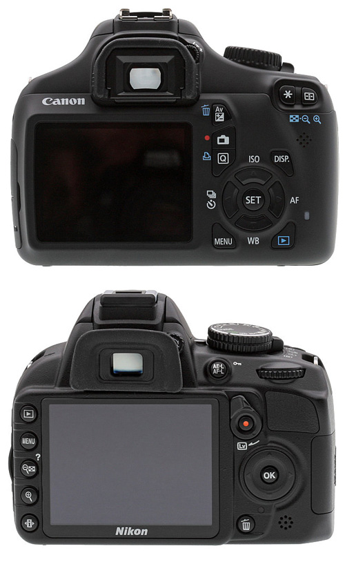 Canon EOS 1100D vs Nikon D3100 – LCD Comparison
