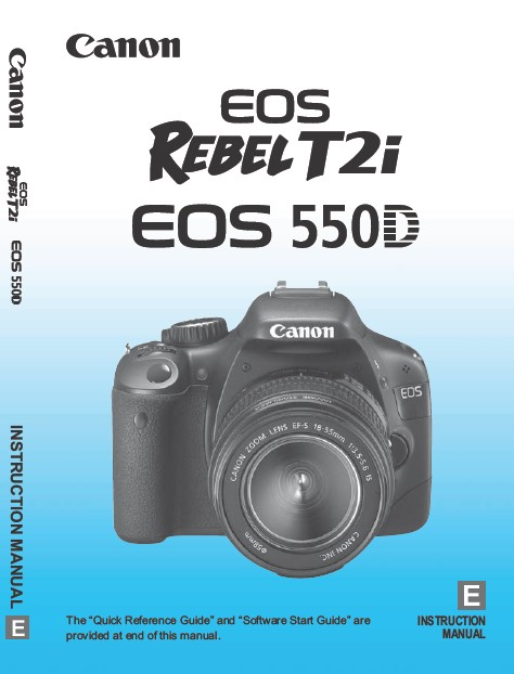 Download EOS 550D User's Guide – Front Cover