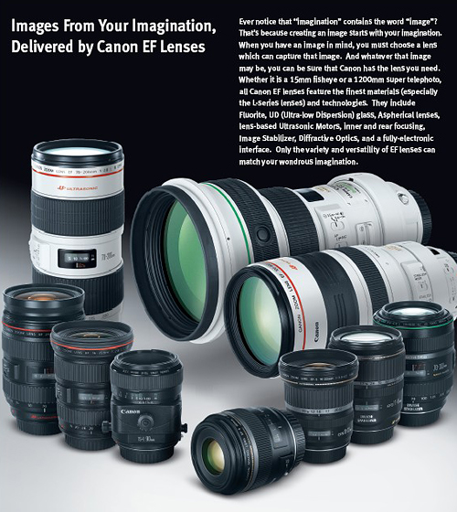 Download PDF - Canon DSLR Lens Catalogue