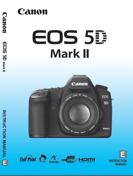 Download Photography PDF Canon EOS 5D Mark II User's Manual