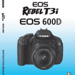 Download Photography PDF: Canon EOS 600D User's Manual