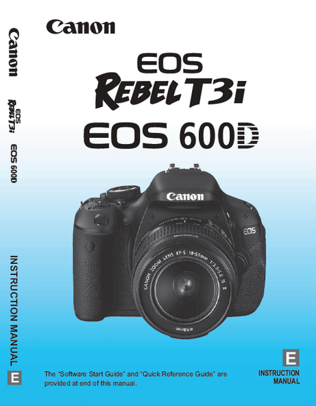 Canon EOS 600D Users Manual