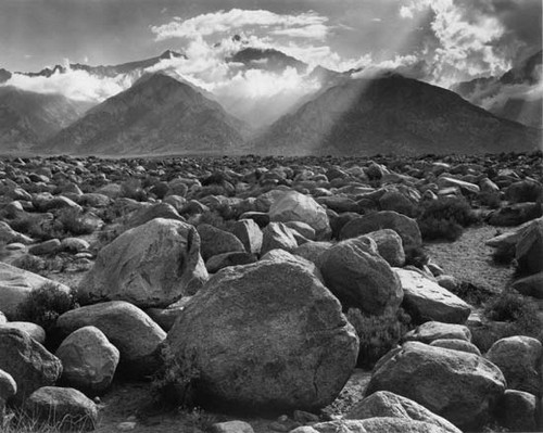 Ansel Adams Black and White Landscape