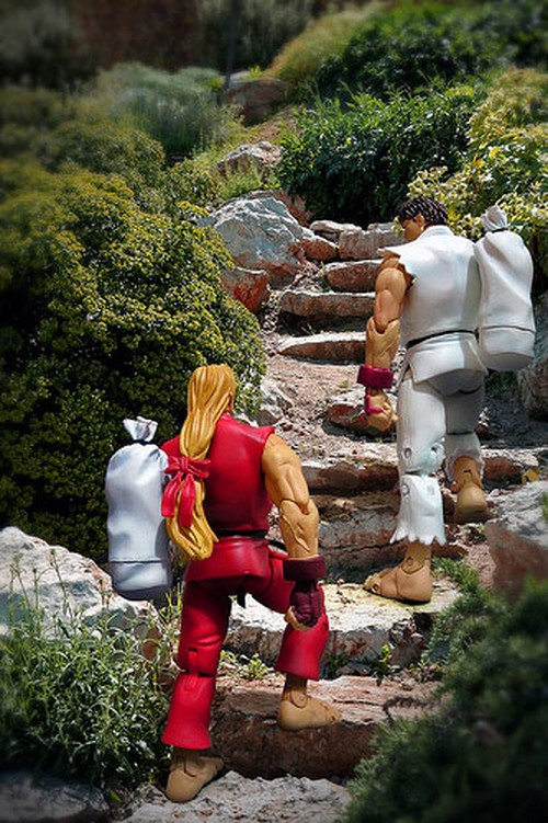 Action Figures Photography Ideas - Ken and Ryu
