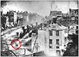 First Photograph Featuring a Human