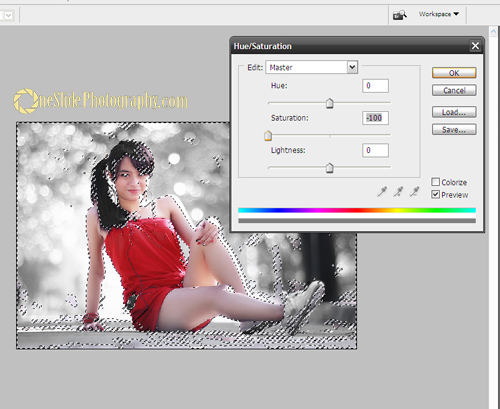 Selective Color Photography Using Adobe Photoshop - Step 4