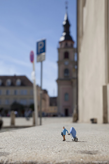 Slinkachu Photography - The Last Stand