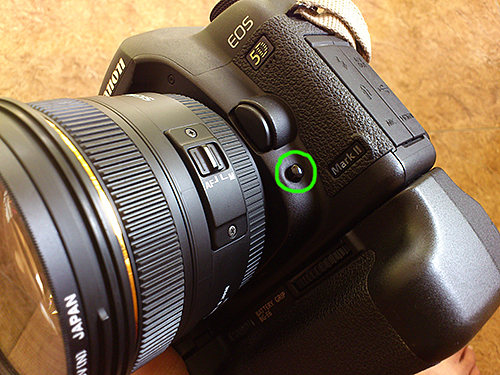 DOF preview button - 5D mk II