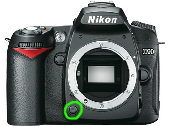 DOF preview button – D90