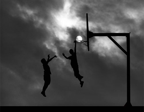 Forced Perspective Photography - Basket Ball