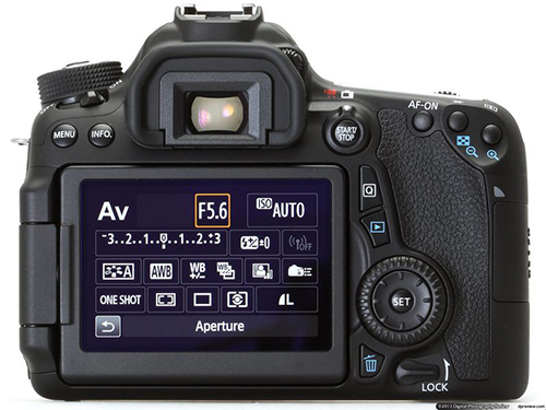 Canon EOS 70D Back View