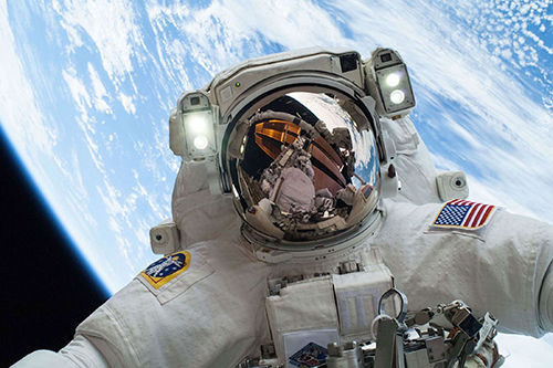 NASA astronaut Mike Hopkins selfie