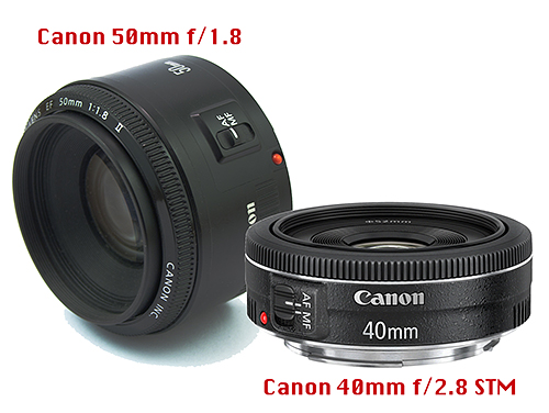 Canon 50mm f1.8 vs. Canon 40mm f2.8STM