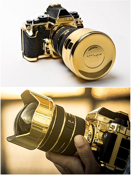 """Lux Nikon Kit"", The 24K Gold Plated Nikon Df Camera"