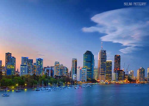 Kangaroo Point Cityscape