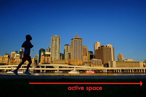 Active space or positive space