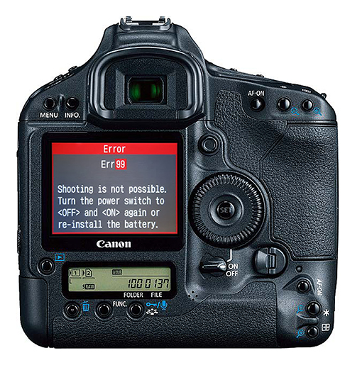 How to fix error99 on Canon camera