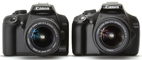 Canon EOS 1100D vs Canon EOS 1000D – Side by side