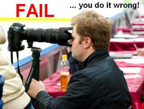 Dos and Don'ts of Digital Photography - photographer fail