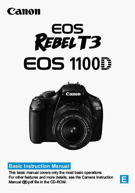 Download : Canon EOS 1100D User's Guide