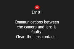 Error01 Canon DSLR