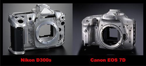 Nikon D300s Canon EOS 7D Magnesium Alloy Body