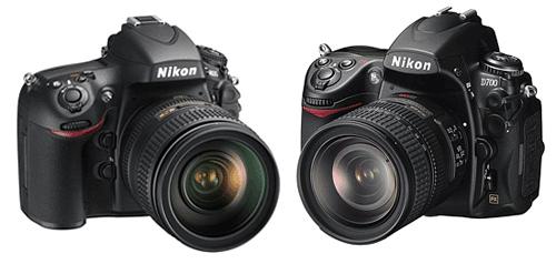 Nikon D800 vs D700 size comparison
