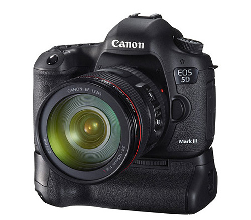 Canon EOS 5D mark III with BG-e11