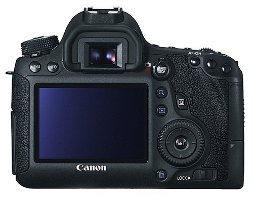 Canon EOS 6D – Back View