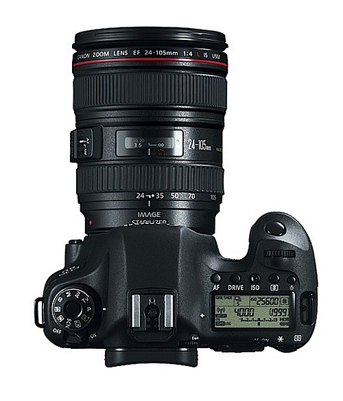 Canon EOS 6D Kit – Top View