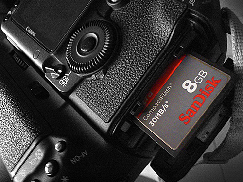 DSLR memory card tips