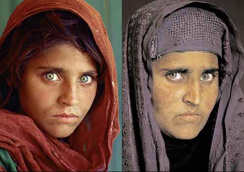 Afghan Girl Then and Now