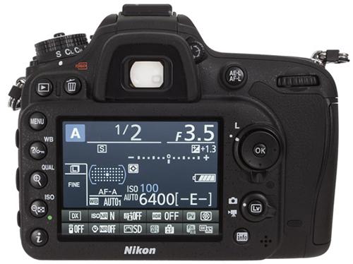 Nikon D7100 LCD view