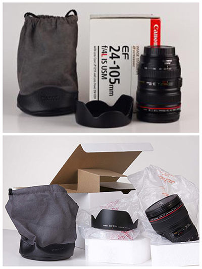 Standard and White Box lens package