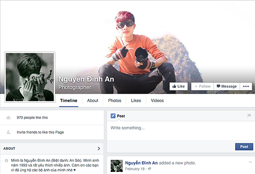 Nguyen Dinh An Facebook Page